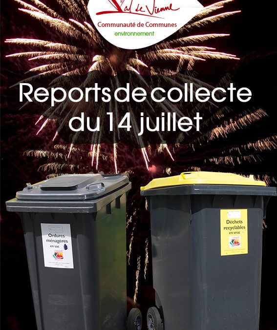 Reports de collectes du 14 juillet