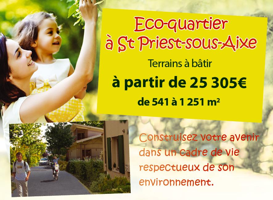 éco-quartier st priest sous Aixe